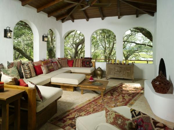 lounge terrasse wie im boutique hotel mediterraner flair sehr bunt