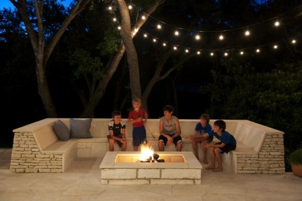 Backyard Bonfire Pit : Lounge Terrasse wie im BoutiqueHotel ? Entspannung pur im eigenem