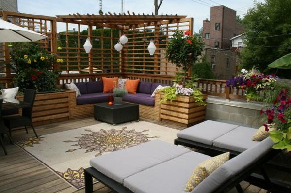 terrasse blumen gestalten | möbelideen - Terrasse Blumen Gestalten