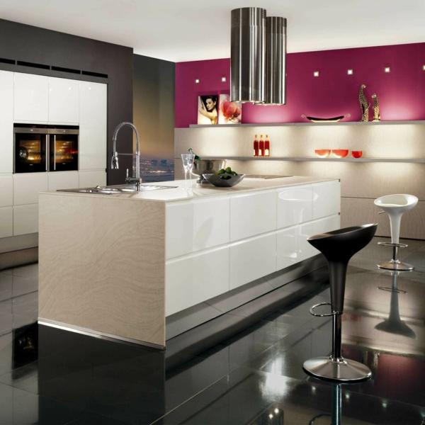 luxus küchen designs modern kompakt einrichtung barstühle