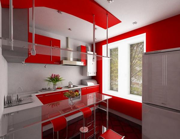 luxus küchen designs modern kompakt einrichtung rote akzente hi tech