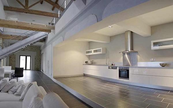 luxus küchen designs weiß eingebaute grau monochromatisch interior