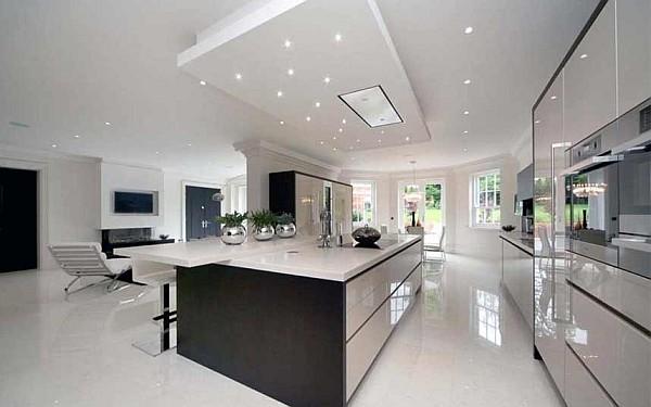 luxus küchen designs weiß eingebaute küchenschrank glanzvoll