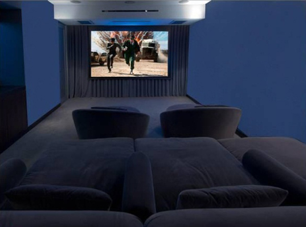 Luxus Single-Wohnung  kino salon sitzplatz bildschirm