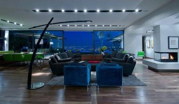 luxus single wohnung wohnzimmer feuerstelle eingebaut