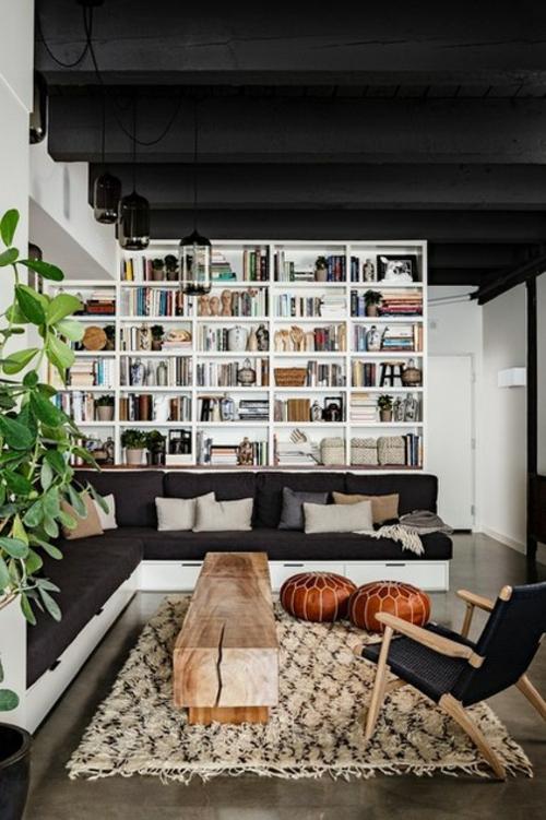 marokkanisches Flair im Interieur Design bücherregale wand