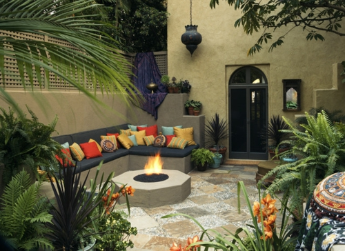 marokkanisches Flair im Interieur Design ecksofa kissen