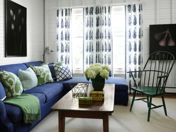 mehr ordnung im haus tolles wohnzimmer design in blau und grün