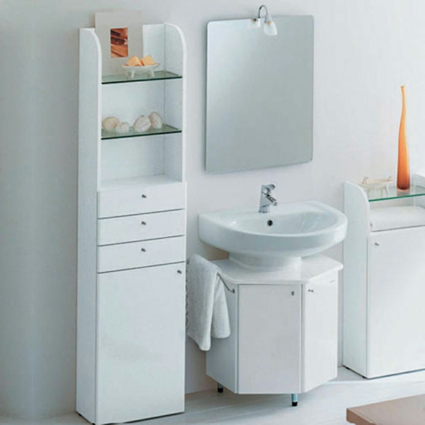 mehr stauraum im badezimmer schickes designglatte oberflächen