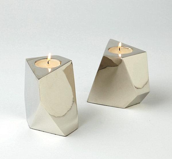 metallglanz bei interior design tolle glänzende windlichter aus nickel
