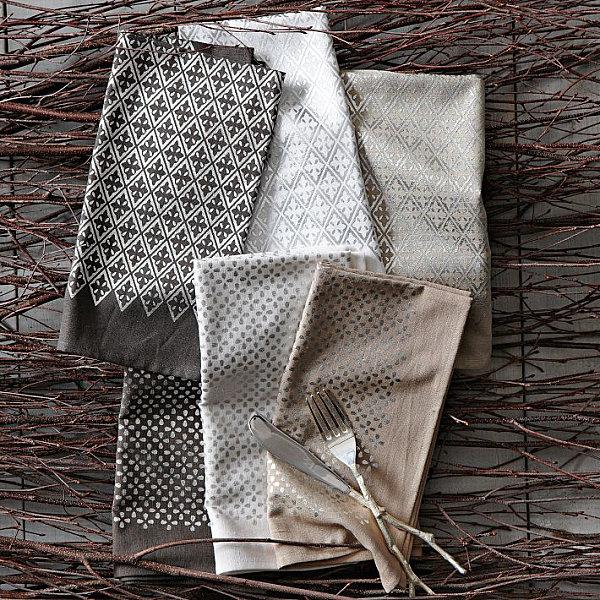 metallglanz bei interior design tolles serviettenset aus stoff