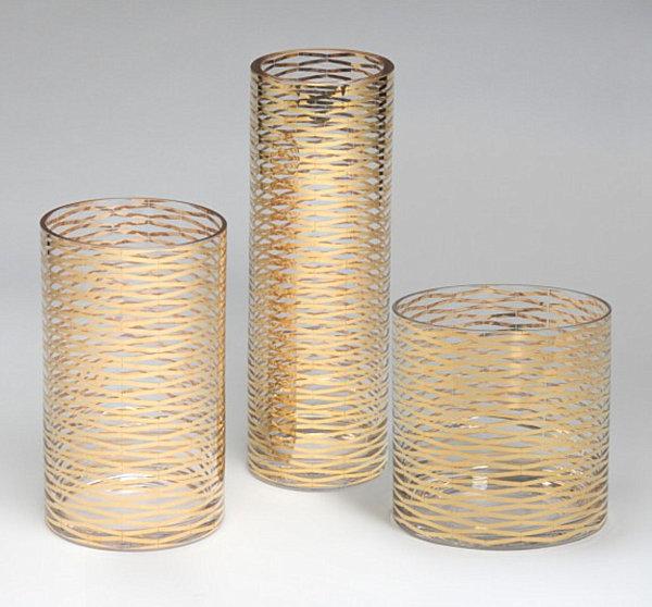 metallglanz bei interior design vasen aus vergoldetem glas