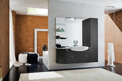 minimalistisch badezimme bilder design trennwand teppich