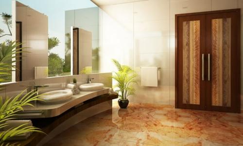 modern elegant badezimmer bilder cool design pflanzen schrank