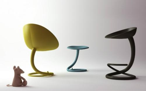 48 moderne barhocker designs mit lehnen schicke for Barhocker gelb