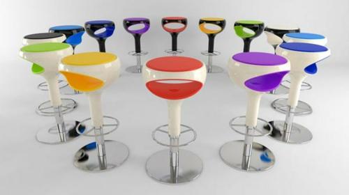 48 moderne barhocker designs mit lehnen schicke for Bunte barhocker