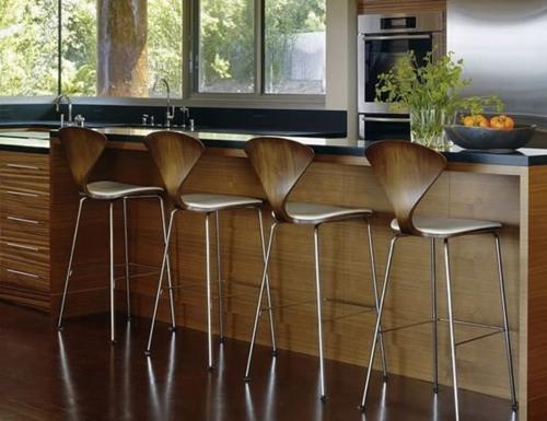 48 moderne Barhocker Designs mit Lehnen – schicke, attraktive Ideen
