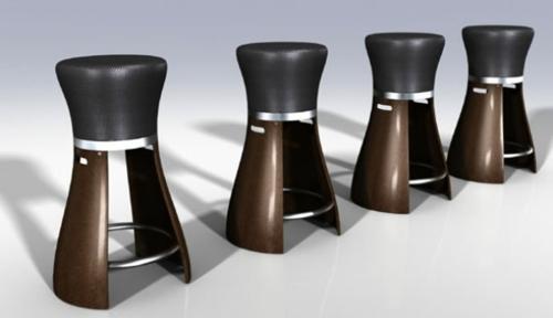 48 moderne barhocker designs mit lehnen – schicke, attraktive ideen,