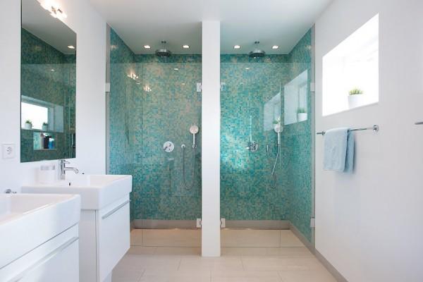 Badezimmer fliesen mosaik blau  Badezimmer Blau Weiß ~ Beste Ideen für moderne Innenarchitektur