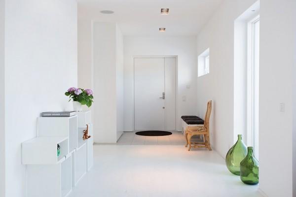 moderne schwedische villa weiß modulare regale
