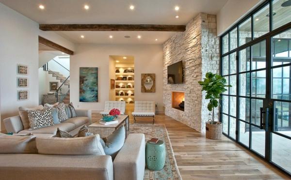 Wohnzimmer Naturfarben Progo Entwurf
