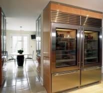 Moderner Kühlschrank mit Glastür – 25 Ideen für ein transparentes brilliantes Haus