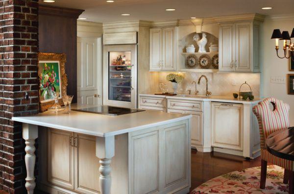 moderner kühlschrank mit glastür holz einrichtung stuhl gestreift