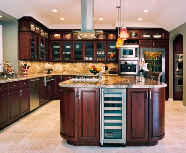 moderner kühlschrank mit glastür holz massiv möbel