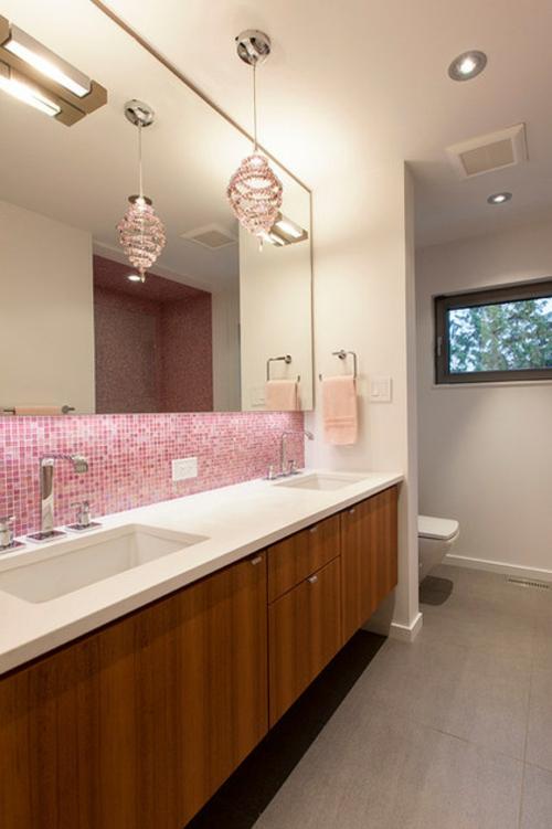 Diy vintage bathroom vanity - Hot Pink Und Schwarz Machen Eine Coole Und Dramatische Farbkombination