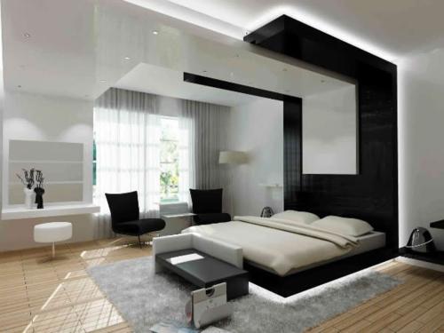 modernes interior design übergroß kopfende