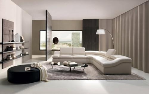 Modernes Wohnzimmer Design Sofa Stehlampe Couchtisch