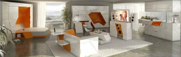 modulares haus interior kompakter wohnbereich aus bausteine