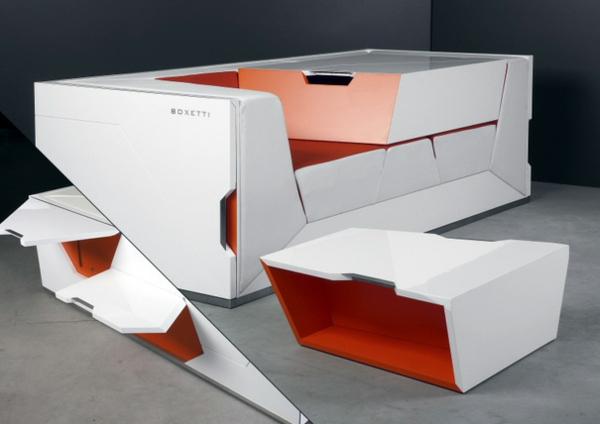 Modulares Haus Interior - Die 5 Zimmer-in-einem-Box