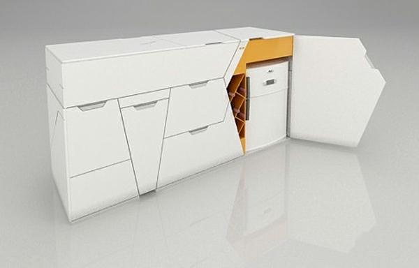 modulares haus interior platzsparende küchenmöbel schränke und kühlschrank