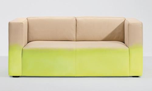 ombre stil möbel ideen styliche couch in beige und gelb