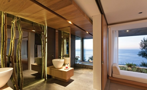 opulente moderne residenz badezimmer naturhafte akzente