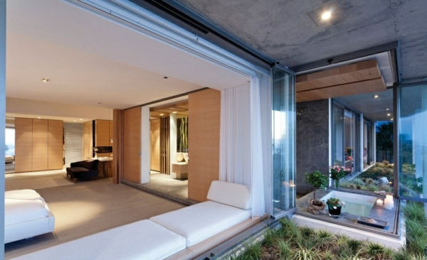 opulente moderne residenz sitzecke fenster bequem interessant