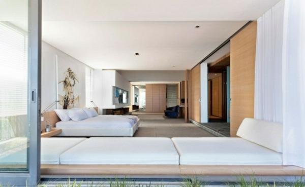 opulente moderne residenz weiß schlafzimmer