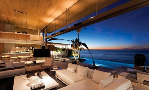 opulente moderne residenz wohnbereich ozeanblick