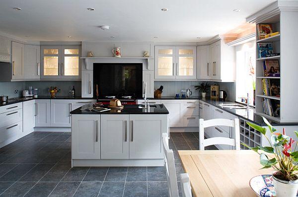 originelle küchenschrank designs einrichtung holz fliesen essbereich
