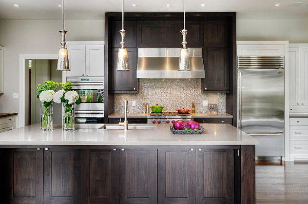 originelle küchenschrank designs einrichtung holz oberflächen