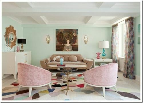Wohnzimmer Ideen Pastell: Kreative wandgestaltung wischtechnik ...