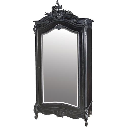 perfekte kleiderschränke in schwarz mit spiegel