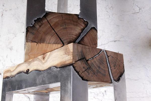 recycelten stumpf im interior design und dekoration aluminium holz - Kreative Ideen Aus Holz