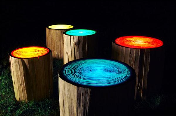 recycelten stumpf im interior design und dekoration leuchtend oberflächen