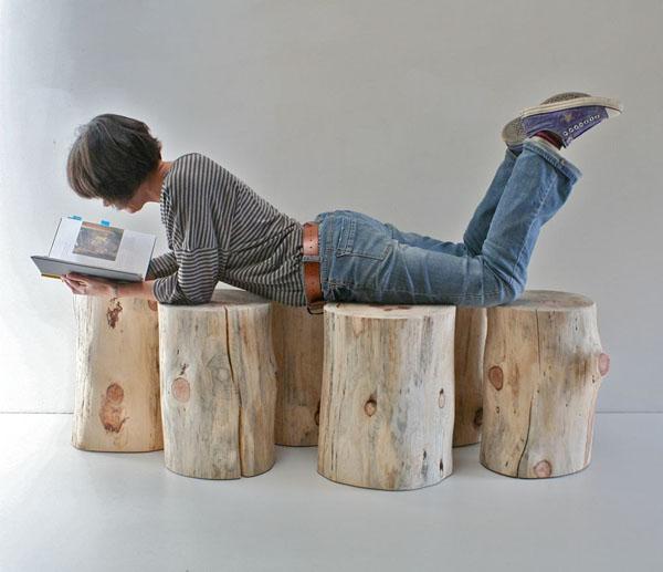 recycelten stumpf im interior design und  dekoration liege