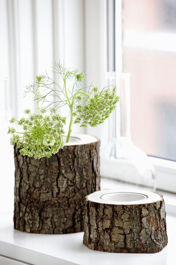 recycelten stumpf im interior design und dekoration vasen