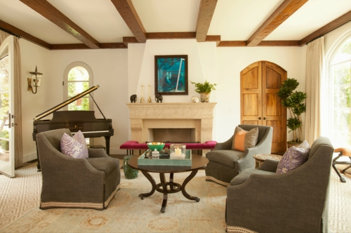 renovieren sie das wohnzimmer, indem sie den baustil betonen, Wohnzimmer