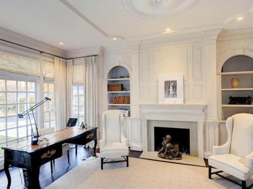 renovieren sie das wohnzimmer baustil architektur einbaukamin bürotisch