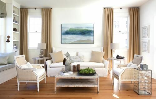 der landhausstil im wohnzimmer – von klassisch bis modern, Mobel ideea